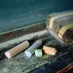 Chalk and eraser; Actual size=240 pixels wide